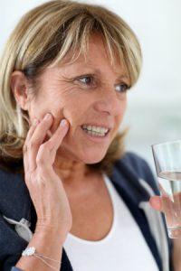 Woman with Teeth Sensitivity